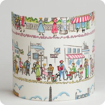 Fabric Half Lamp Shade For Wall Light Happy Paris