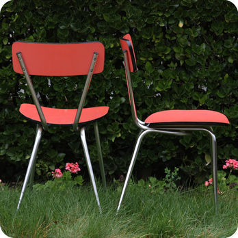 vintage furniture chairs armchairs 60s kitchen chairs in formica 2 fabuleuse factory - Chaise De Cuisine Retro