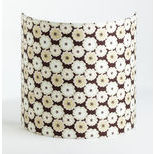 Fabric half lamp shade for wall light Sweet brownie