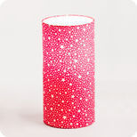 Cylinder fabric table lamp Red stars