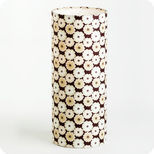 Cylinder fabric table lamp Sweet brownie