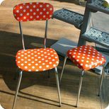 60's kitchen chair and stool