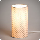 Cylinder fabric table lamp Pearl stars