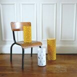 Cylinder fabric table lamp Orion