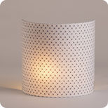 Fabric half lamp shade for wall light Mimi pinson