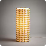 Cylinder fabric table lamp Pythagore