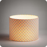 Drum fabric lamp shade / pendant shade in Petit Pan fabric Wasabi