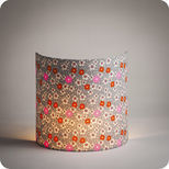Fabric half lamp shade for wall light in Petit Pan fabric Fleur des îles