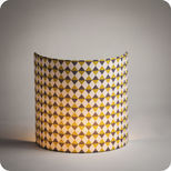 Fabric half lamp shade for wall light Pythagore