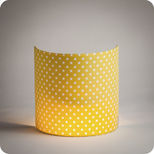 Fabric half lamp shade for wall light Grain de moutarde