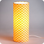 Cylinder fabric table lamp Clémentine