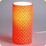 Cylinder fabric table lamp Koraru