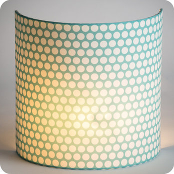 Fabric half lamp shade for wall light Glacier