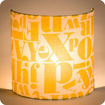 Fabric half lamp shade for wall light Stencil