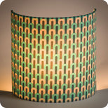 Fabric half lamp shade for wall light Chrysler