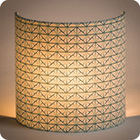 Fabric half lamp shade for wall light Gatsby