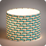 Drum fabric lamp shade / pendant shade Georges et Rosalie Trafic