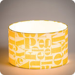 Drum fabric lamp shade / pendant shade Stencil