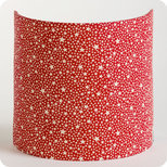Fabric half lamp shade for wall light Red stars