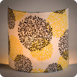Fabric half lamp shade for wall light Végétale