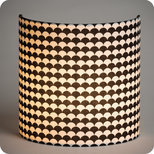 Fabric half lamp shade for wall light Shirokuro