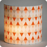 Fabric half lamp shade for wall light Tangente