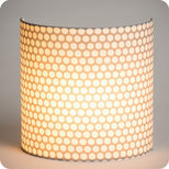 Fabric half lamp shade for wall light Osmose
