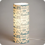 Cylinder fabric table lamp Playtime