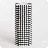Cylinder fabric table lamp Shirokuro