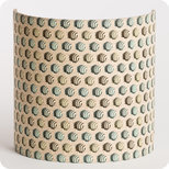 Fabric half lamp shade for wall light Hypnotic