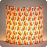 Fabric half lamp shade for wall light Tori