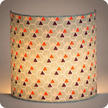 Fabric half lamp shade for wall light Hexagone