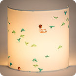 Fabric half lamp shade for wall light Hirondelles