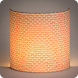 Fabric half lamp shade for wall light Shawa rose