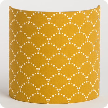 Fabric half lamp shade for wall light Asahi moutarde