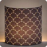 Fabric half lamp shade for wall light Asahi gris