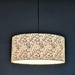 Drum fabric lamp shade / pendant shade Twist
