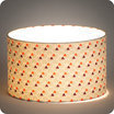 Drum fabric lamp shade / pendant shade Hexagone lit Ø30