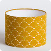 Drum fabric lamp shade / pendant shade Asahi moutarde Ø20