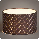 Drum fabric lamp shade / pendant shade Asahi gris