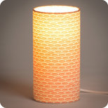 Cylinder fabric table lamp Shawa rose