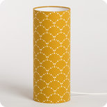 Cylinder fabric table lamp Asahi moutarde