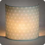 Fabric half lamp shade for wall light Ozora verdo
