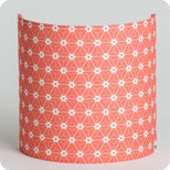 Fabric half lamp shade for wall light Ozora pink