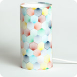 Cylinder fabric table lamp Kaleidoscope