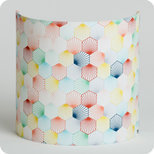 Fabric half lamp shade for wall light Kaleidoscope