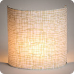 Fabric half lamp shade for wall light Glam
