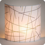 Fabric half lamp shade for wall light Mikado