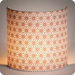 Fabric half lamp shade for wall light Hoshi cuivre