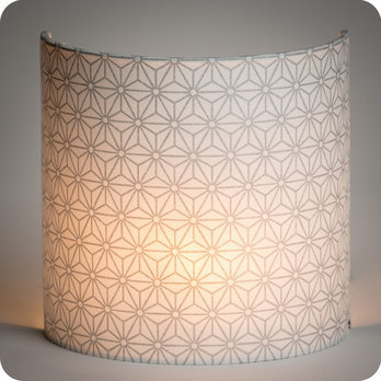Fabric half lamp shade for wall light Hoshi argent